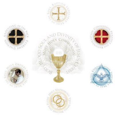 seven sacramants The seven sacraments are baptism, confirmation, eucharist, reconciliation, anointing of the sick, holy orders, and matrimony baptism along with confirmation and eucharist, it is one of the sacraments of initiation, giving access to the full sacramental life of the church.